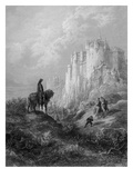 Camelot  Illustration from 'Idylls of the King' by Alfred Tennyson (Litho)