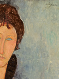 Woman with Blue Eyes  C1918 (Oil on Canvas) (Detail of 96792)