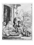 Abraham Entertaining the Angels  1656 (Etching)