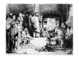 Christ Preaching  C1652 (Etching)