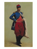 Portrait of Claude Monet (1840-1926) in Uniform  1861 (Oil on Canvas)