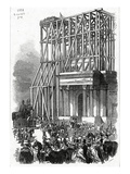 Arrival of the Wellington Statue at the Arch  Published in 'The Illustrated London News'