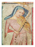The Female Saints at the Tomb and the Resurrection  Detail of the Violin Player  1330 (Fresco)
