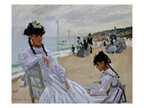 On the Beach at Trouville  1870-71 (Oil on Canvas)