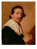 Portrait of Jean De La Chambre at the Age of 33  1638 (Oil on Panel)