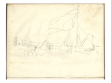Regatta at Argenteuil (Pencil on Paper)