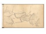 Boats at Etretat (Pencil on Paper)