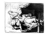 Joseph and Potiphar's Wife  1634 (Etching)