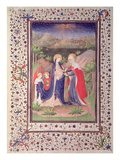 Ms 2 Fol65V the Visitation  from the Boucicaut Hours  C1410 (Vellum)