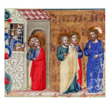 St John Imprisoned and Sending Two Disciples to Christ (Vellum)