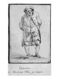 Caricature of Honore Gabriel Riqueti  Comte De Mirabeau (Pen and Brown Ink and Grey Wash on Paper)