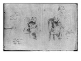 Studies for Little Girl with a Doll  1884 (Black Lead on Paper)