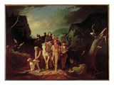 Daniel Boone Escorting Settlers Through the Cumberland Gap  1851-52 (Oil on Canvas)