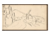 The Rocks at Falaise (Pencil on Paper)