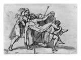 Death of Meleager (Pen and Brown Ink and Grey Wash and Pierre Noire on Paper)