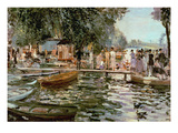 La Grenouillere  1869 (Oil on Canvas)