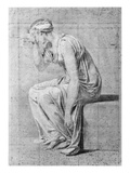 Camilla  Study for 'The Oath of the Horatii'  C1785 (Pencil on Paper)