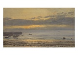 Before Sunrise  Scarborough - Low Water  1878 (Oil on Canvas)