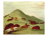 The Buffalo Hunt (Oil on Canvas)