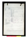 Sketch of Palazzo Dario (Pencil on Paper)