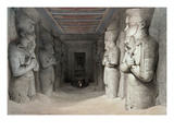 Interior of the Temple of Aboo Simbel  from &#39;Egypt and Nubia&#39;  Lithograph by Louis Haghe  1849