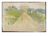 The Small Haystack  1882 (Pastel on Paper)