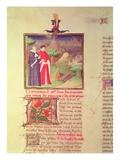 Ms Fr 9141 Fol217V Scholar and Nobleman  from 'Livre Des Proprietes Des Choses'