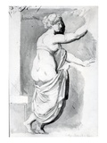 Figure Study from the 'Roman Album'  1770 (Pen  Ink and Wash on Paper)