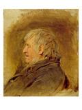 Profile Study of an Elderly Man  1884 (Oil on Panel)