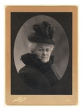 Alice Monet (1844-1911) 1899 (Silver Print) (B/W Photo)