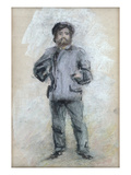 Portrait of Claude Monet (1840-1926) Standing  1875 (Pastel on Paper)