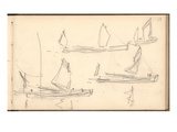 Boats on the Thames (Pencil on Paper)