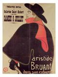 Aristide Bruant Dans Son Cabaret  1893 (Colour Litho)