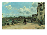 View of Pontoise: Quai Au Pothuis  1868