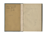 Inside Cover and Front Page from a Sketchbook  'Sketchbook of My Mother Berthe Morisot'  1888-89