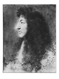 Portrait of Louis Xiv  Young  in Profile to the Left  C1669-70 (Pastel on Grey Beige Paper)