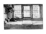 Artist's Worktable at the Window Overlooking the River  C1650 (Pen  Ink and Wash on Paper)