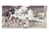 The Battle of Pyongyang During the Sino-Japanese War  No36 from an Album  Pub 1894