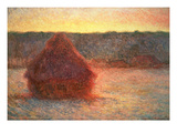 Haystacks at Sunset  Frosty Weather  1891
