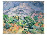 Montagne Sainte-Victoire from the South-West with Trees and a House (Oil on Canvas)