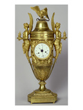 Clock Vase with an Eagle  C1800 (Gilded Bronze)