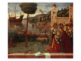 StUrsula Taking Leave of Her Father  C1500 (Oil on Panel)