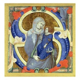 Historiated Initial 's' Depicting St Anne and the Virgin (Vellum)