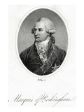 The Marquis of Rockingham  Engraved by William Ridley  from 'Junius Stat Nominus Umbra'