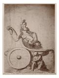 Triumphant France  C1674 (Pierre Noire and Grey Wash on Paper)