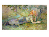 Shepherdess Resting  1891 (Oil on Canvas)