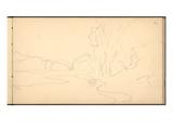 Stream of Daelibekken  East of Mount Kolsaas  1895 (Pencil on Paper)
