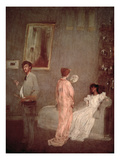 Whistler in His Studio  1865-66 (Oil on Paper)