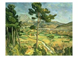 Landscape with Viaduct: Montagne Sainte-Victoire  C1885-87 (Oil on Canvas)