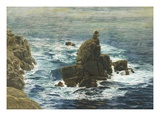 Land's End  1872 (Oil on Board)
